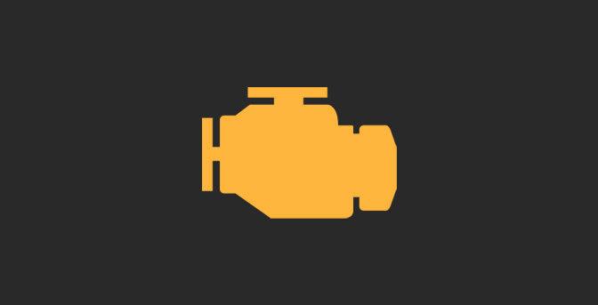 Vad betyder det när motorlampan lyser?