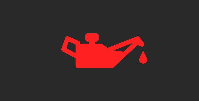 Din oljelampa lyser - stanna bilen och stäng av motorn.